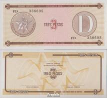 Kuba Pick-Nr: FX33 Bankfrisch 1985 3 Pesos - Kuba