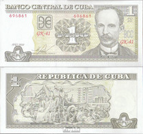 Kuba Pick-Nr: 121j Bankfrisch 2010 1 Peso - Cuba
