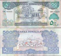 Somaliland Pick-Nr: 6g Bankfrisch 2008 500 Shillings - Somalia