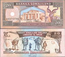 Somaliland Pick-Nr: 3b Bankfrisch 1996 20 Shillings Springbock - Somalia