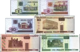 Weißrussland Pick-Nr: 21-26 Bankfrisch 2000 Serie 1-100 Rubel - Belarus