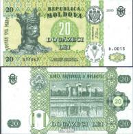 Moldawien Pick-Nr: 13g Bankfrisch 2005 20 Lei - Moldawien (Moldau)