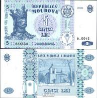 Moldawien Pick-Nr: 9e Bankfrisch 2006 5 Lei - Moldawien (Moldau)