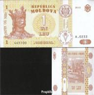 Moldawien Pick-Nr: 8h Bankfrisch 2010 1 Leu - Moldawien (Moldau)