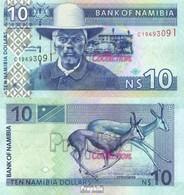 Namibia - Südwestafrika Pick-Nr: 4a Bankfrisch 2001 10 Dollars - Namibia