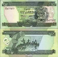 Salomoninseln Pick-Nr: 13a Bankfrisch 1986 2 Dollars - Salomonseilanden