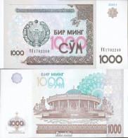 Usbekistan Pick-Nr: 82 Bankfrisch 2001 1.000 Sum - Uzbekistán
