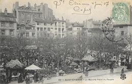 St Saint-Etienne - Le Marché Place Du Peuple - Carte M.T.I.L. Animée N° 69 - Saint Etienne