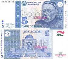Tadschikistan Pick-Nr: 15a Bankfrisch 1999 5 Somoni - Tadschikistan