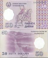 Tadschikistan Pick-Nr: 13 Bankfrisch 1999 50 Dirams - Tadschikistan