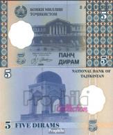 Tadschikistan Pick-Nr: 11a Bankfrisch 1999 5 Diram - Tadschikistan