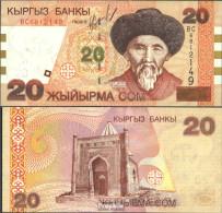 Kirgisistan Pick-Nr: 19 Bankfrisch 2002 20 Som - Kirgisistan