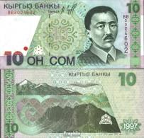 Kirgisistan Pick-Nr: 14a Bankfrisch 1997 10 Som - Kirgisistan