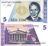 Kirgisistan Pick.Nr: 8a Bankfrisch 1994 5 Som - Kirgisistan