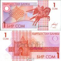 Kirgisistan Pick.Nr: 4 Bankfrisch 1993 1 Som - Kirgisistan