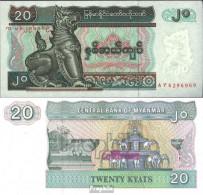 Myanmar Pick-Nr: 72 Bankfrisch 1994 20 Kyats - Myanmar