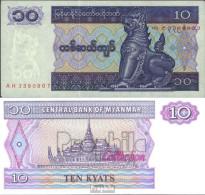 Myanmar Pick.Nr: 71b Bankfrisch 1996 10 Kyats - Myanmar