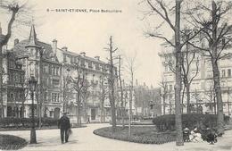 St Saint-Etienne - Place Badouillère - Carte M.T.I.L. Animée N° 6 Dos Simple - Saint Etienne