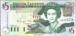 Vereinte Karibische Staaten Pick-Nr: 42a, Suffix Letter A Bankfrisch 2003 5 Dollars - Ostkaribik