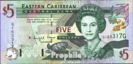 Vereinte Karibische Staaten Pick-Nr: 37g Suffix Letter G Bankfrisch 2000 5 Dollars - Ostkaribik