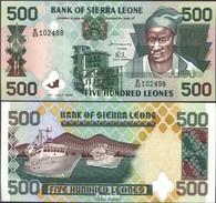 Sierra Leone Pick-Nr: 23b Bankfrisch 1998 500 Leones - Sierra Leone