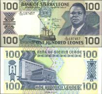 Sierra Leone Pick-Nr: 18c Bankfrisch 1990 100 Leones - Sierra Leone
