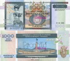 Burundi Pick-Nr: 39d Bankfrisch 2006 1.000 Francs - Burundi