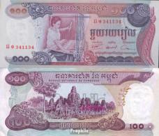 Kambodscha Pick-Nr: 15a Bankfrisch 1973 100 Riels - Kambodscha