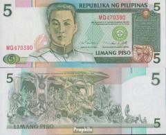 Philippinen Pick-Nr: 180 Bankfrisch 1995 5 Piso - Philippinen