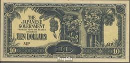 Malaysia Pick-Nr: M7c Bankfrisch 1944 10 Dollars - Malaysia