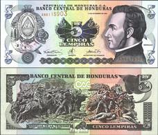 Honduras Pick-Nr: 85a Bankfrisch 2000 5 Lempiras - Honduras