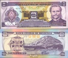 Honduras Pick-Nr: 80A D Bankfrisch 2003 2 Lempiras - Honduras