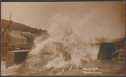 Rough Sea, Porthleven, Cornwall, 1914 - Hawke RP Postcard - England