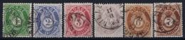 Norway: Mi 16 - 21 Obl./Gestempelt/used  1872 - Gebraucht