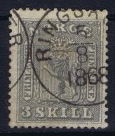 Norway:  Mi  7 Obl./Gestempelt/used  1863 - Gebraucht