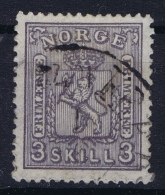 Norway:  Mi  13 Obl./Gestempelt/used  1867 - Gebraucht