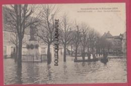25 - MONTBELIARD--Inondation Du 8 Février 1910--Place Denfert Rochereau--animé - Montbéliard