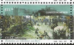 RJ) 2017 MEXICO, CLXX ANNIVERSARY OF THE BATTLE OF THE MOLINO DEL REY, MNH - Mexico
