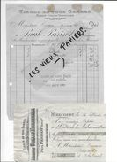 88 - Vosges - MIRECOURT - Facture PARISOT - Tissus - 1922 - REF 80D - 1900 – 1949
