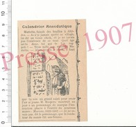 Presse 1907 Anecdote Autour De (Auguste) Mariette En Egypte Pyramides Egyptologie Fouilles à Abydos  216PF7 - Vieux Papiers