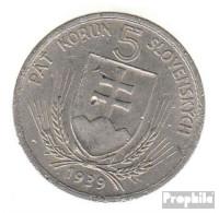 Slowakei KM-Nr. : 2 1939 Sehr Schön Nickel Sehr Schön 1939 5 Korun Wappen - Slowakei