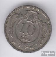 Österreich KM-Nr. : 2802 1910 Sehr Schön Nickel Sehr Schön 1910 10 Heller Doppeladler - Oesterreich