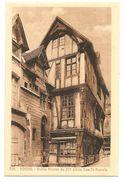 """326 - ROUEN - Vieille Maison Du XV° S Rue St-Romain (Cartes """"La Cigogne"""", Rouen) SEPIA - Rouen"""