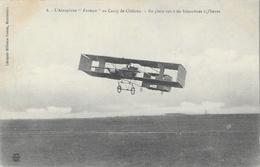 """L'Aéroplane """"Farman"""" Au Camp De Châlons - En Plein Vol à 60 Kilomètres à L'heure - Librairie Guérin - Carte Non Circulée - ....-1914: Précurseurs"""