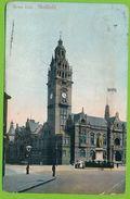 SHEFFIELD - Town Hall Carte Circulé 1907 - Sheffield