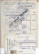 88 - Vosges - AUX ROUGES-EAUX - Facture THOMAS - Bois En Gros - Scierie - 1932 - REF 80D - Francia