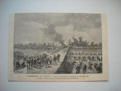 GRAVURE 1883. L'EXPEDITION DU TONKIN. PRISE DU VILLAGE DE GIA-KOUCK, 28 MARS 1883. - Prints & Engravings
