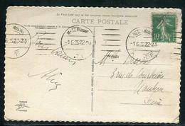 France - Oblitération Mécanique De Metz En 1925 Sur Carte Postale - Ref D40 - Marcophilie (Lettres)