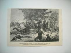 GRAVURE 1883. L'EXPEDITION DU TONKIN. LE COMBAT DE BAC-NIGUE, LIVRE LE 29 MARS. - Prints & Engravings