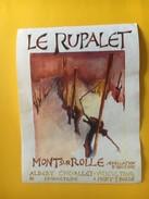 5949 - Le Rupalet Mont Sur Rolle Albert Chevalley Suisse - Etiquettes